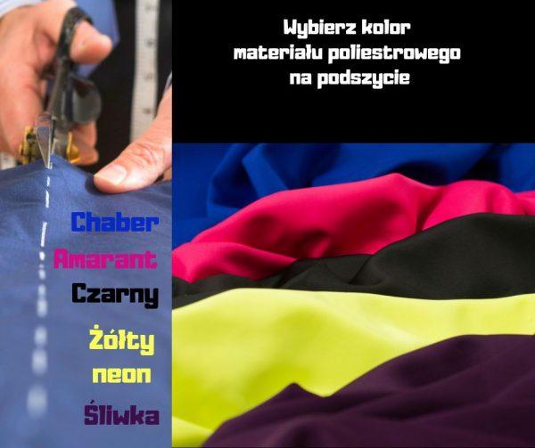 Kolorowe materiały na smycze